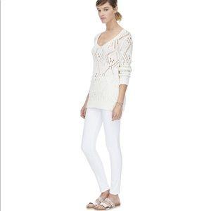 Rebecca Taylor Pointelle-Knit Sweater size Medium